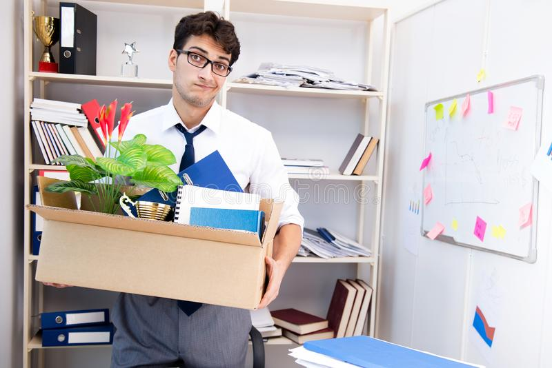 The employee being fired from work made redundant. Employee being fired from work made redundant stock photography