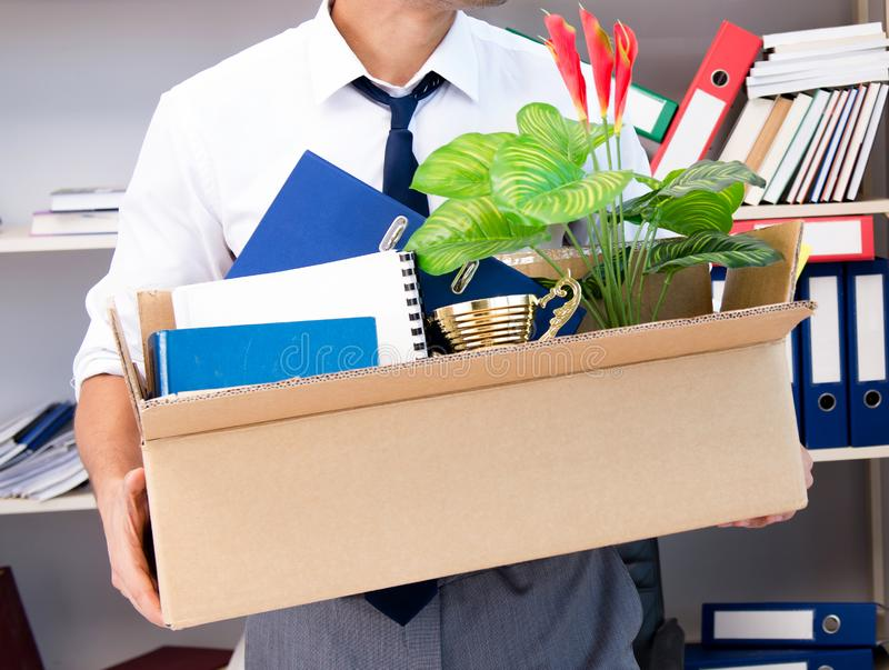 Employee being fired from work made redundant. The employee being fired from work made redundant stock photography