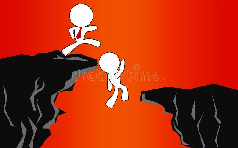 Employee is being kick into abyss. 3D rendering vector illustration
