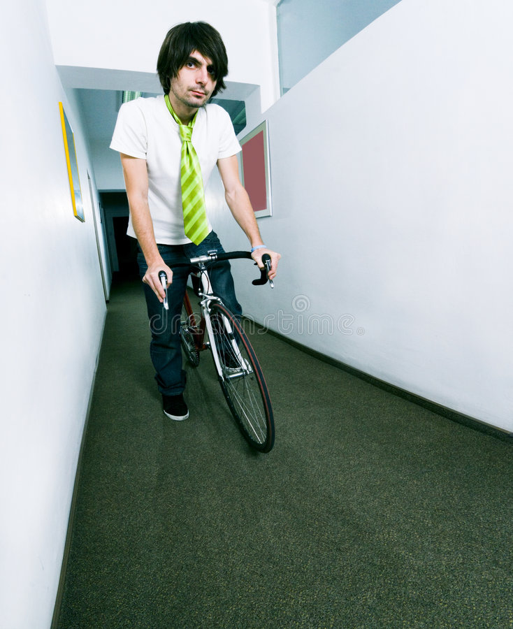 Download Employee on bike stock image. Image of corporate, worker - 3475287