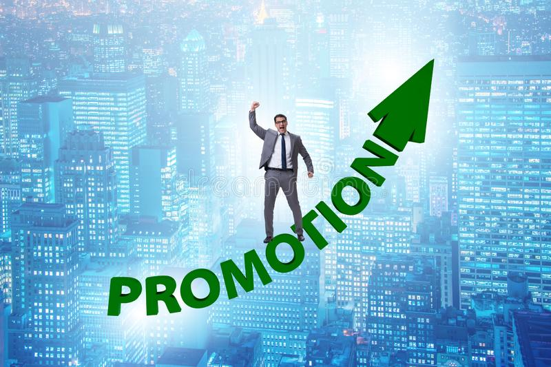 Employee in career promotion concept royalty free stock image