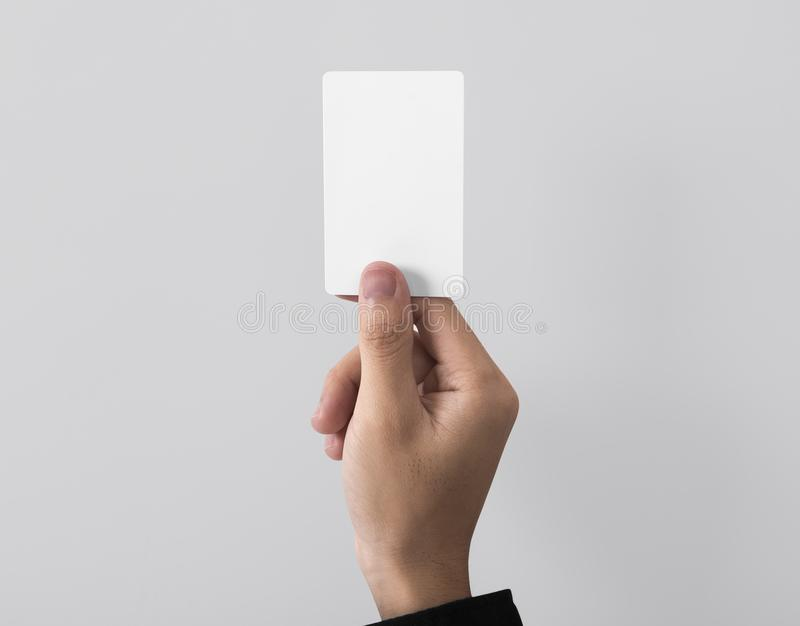 Employee catch blank business card for mockup template logo. Branding background stock photos