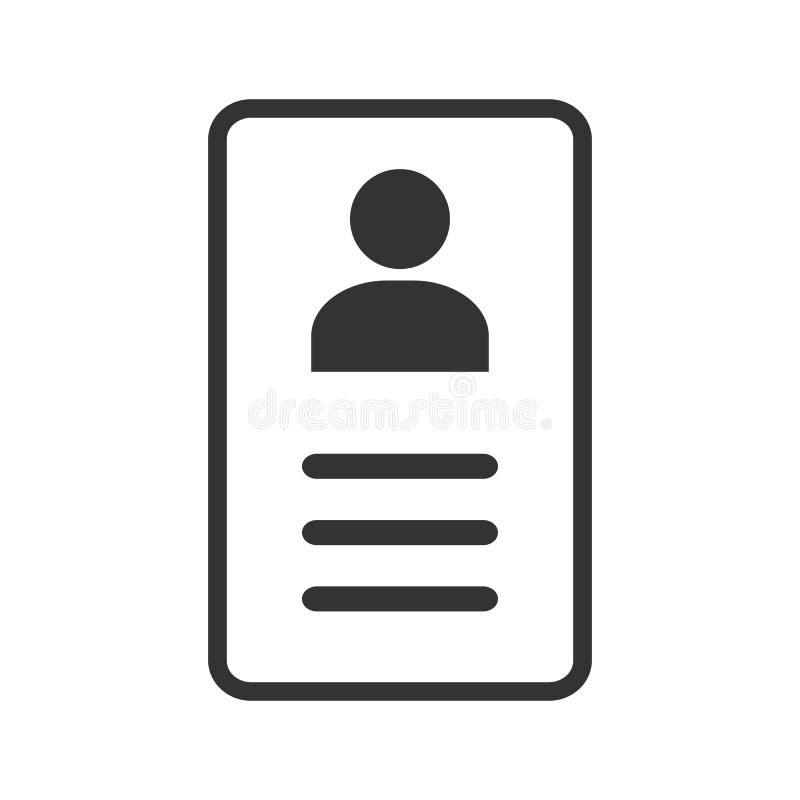 Employee clerk card, vcard vector icon illustration for graphic design, logo, web site, social media, mobile app, ui royalty free illustration