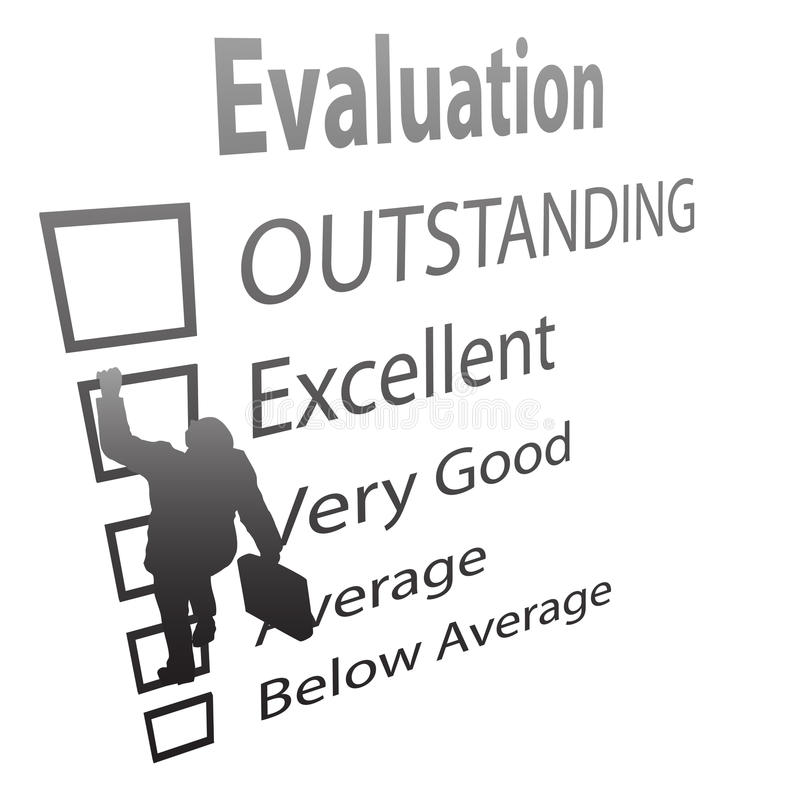 Download Employee Climbs Up Evaluation Improvement Form Stock Vector - Image: 12490634
