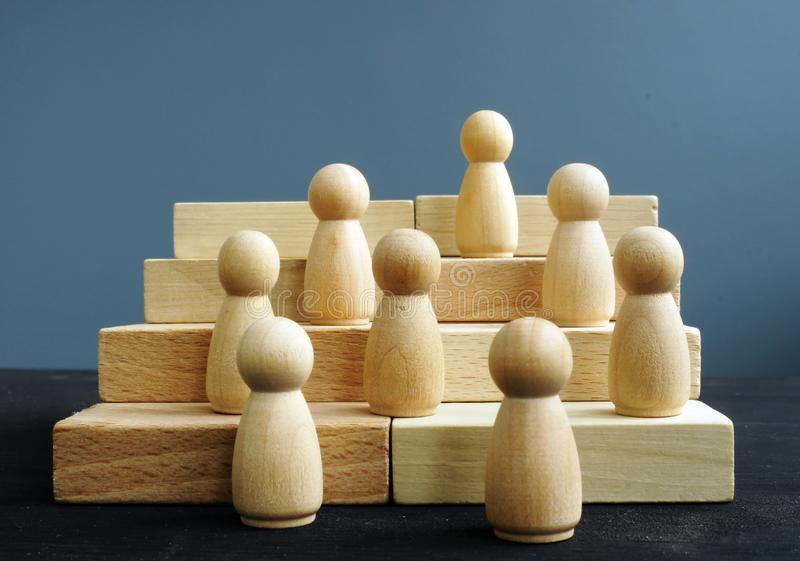 Employee development and career ladder. Competition in business. Concept royalty free stock photo