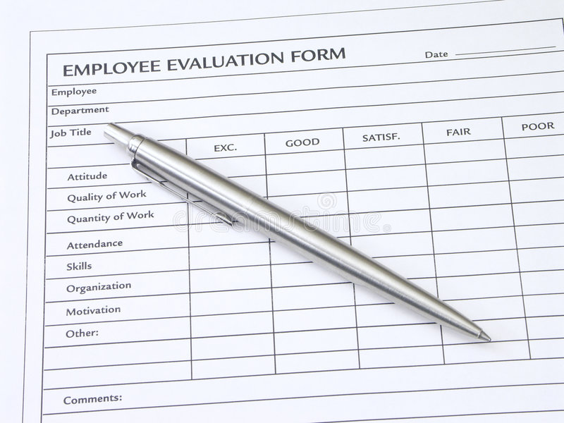 Employee Evaluation Form Stock Image Image Of Commerce