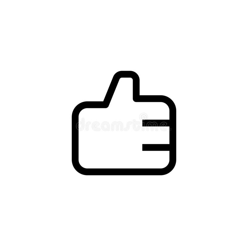 Employee good work icon design. thumb up hand sign symbol. simple clean line art professional business management concept vector. Illustration design. eps 10 royalty free illustration