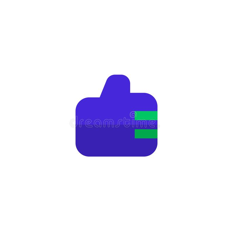 Employee good work icon design. thumb up hand sign symbol. simple clean professional business management concept. Illustration design. eps 10 stock illustration