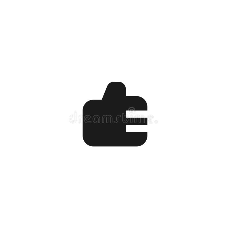 Employee good work icon design. thumb up hand sign symbol. simple clean professional business management concept vector. Illustration design. eps 10 stock illustration