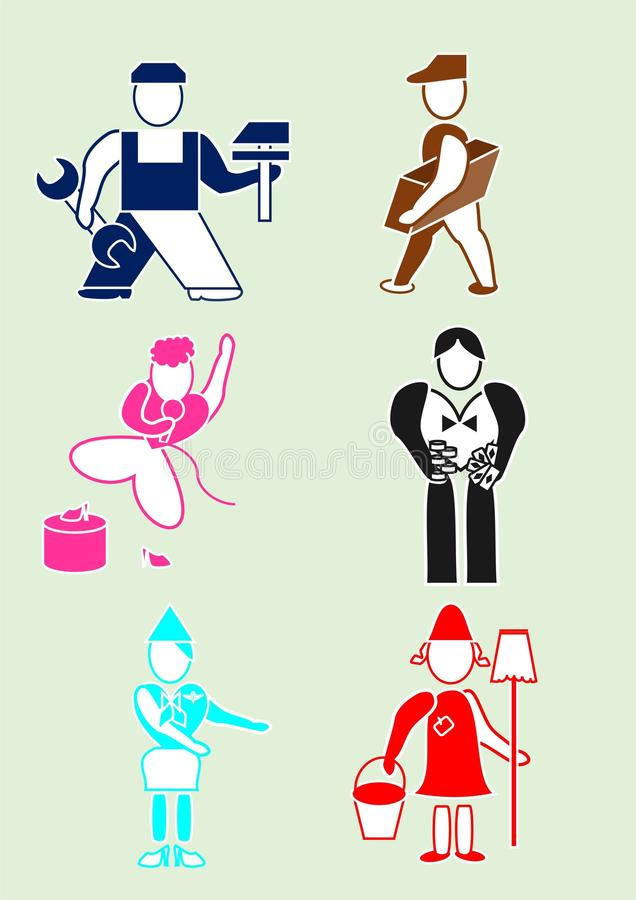 Employee. Icon for business, employee and workers stock illustration