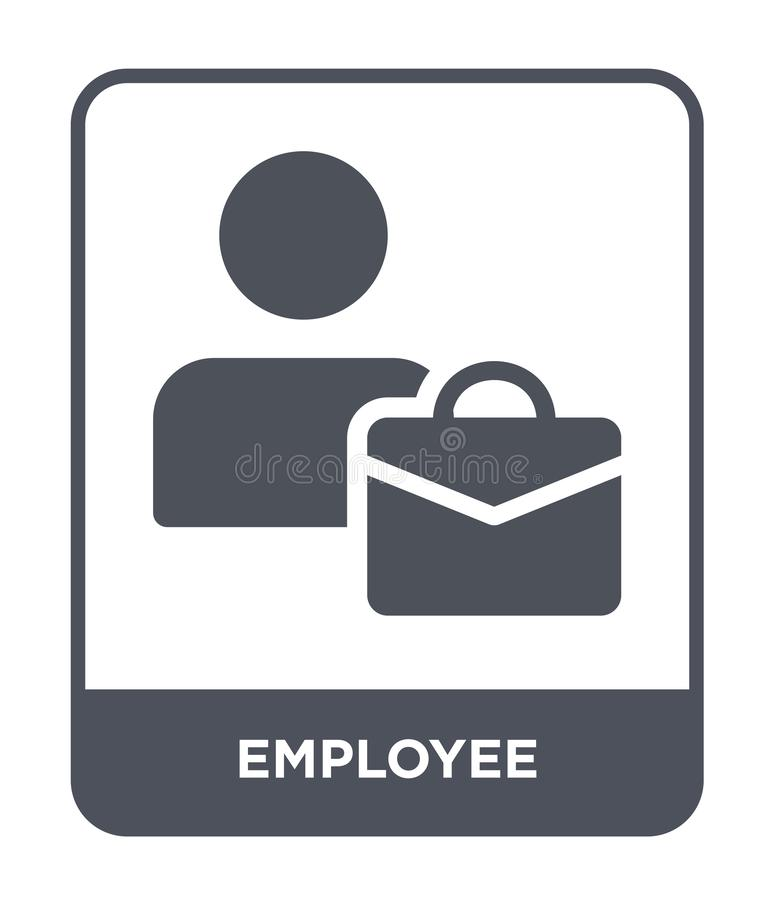 Free Employee Icon In Trendy Design Style. Employee Icon Isolated On White Background. Employee Vector Icon Simple And Modern Flat Stock Photos - 135748943