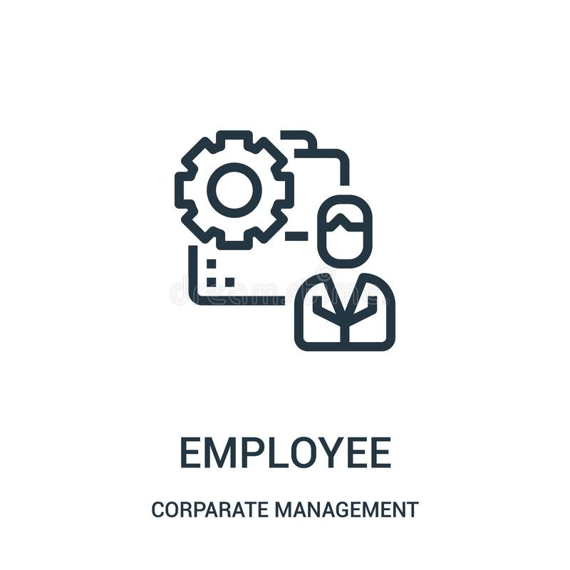 Employee icon vector from corparate management collection. Thin line employee outline icon vector illustration. Linear symbol for. Use on web and mobile apps vector illustration