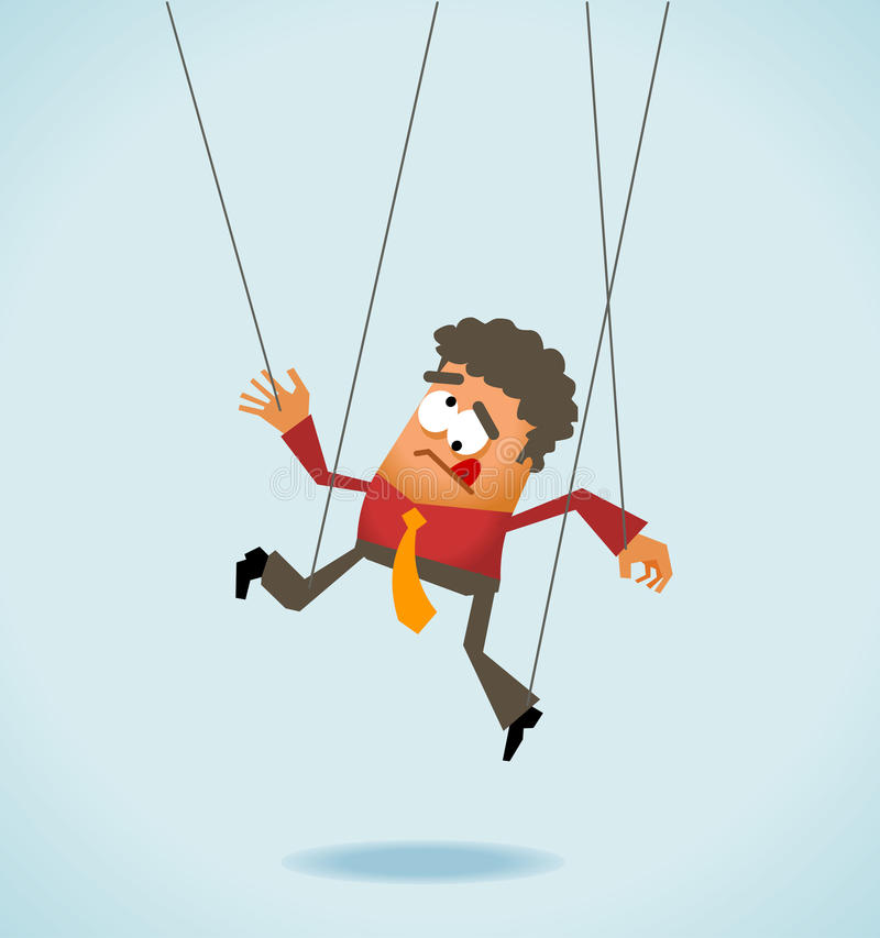Download Employee like a puppet stock illustration. Illustration of manager - 25824511