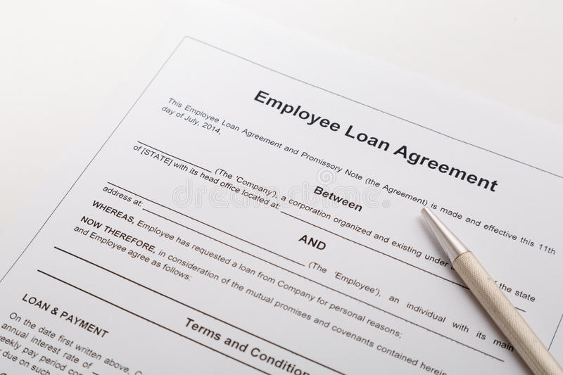 download employee loan agreement stock photo image of application 44212014