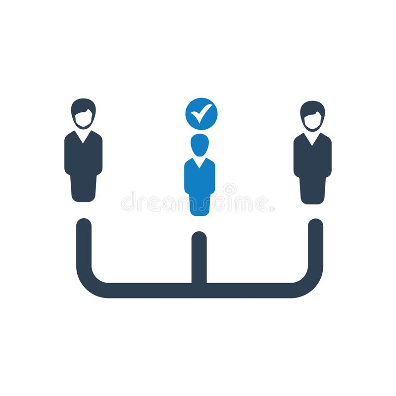 Employee management icon, Organizational Structure vector. You can use this icon any kind of web and print design stock illustration