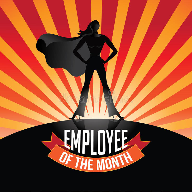 Employee of the Month burst royalty free illustration