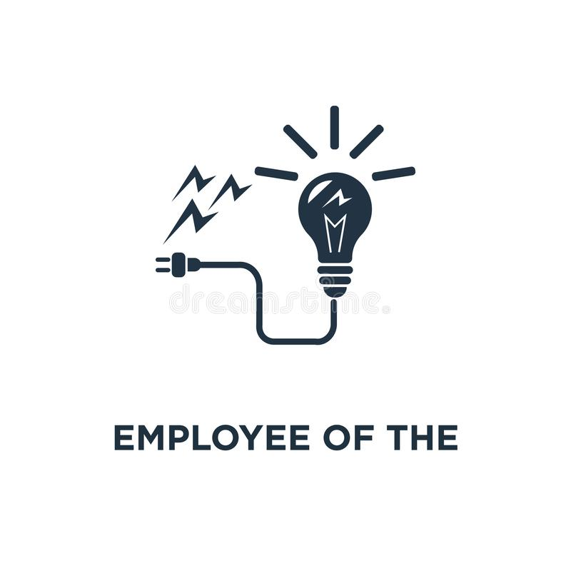Employee of the month icon. talent award, successful person, accomplishment celebration, reaching goal concept symbol design,. Outstanding achievement, loyalty royalty free illustration
