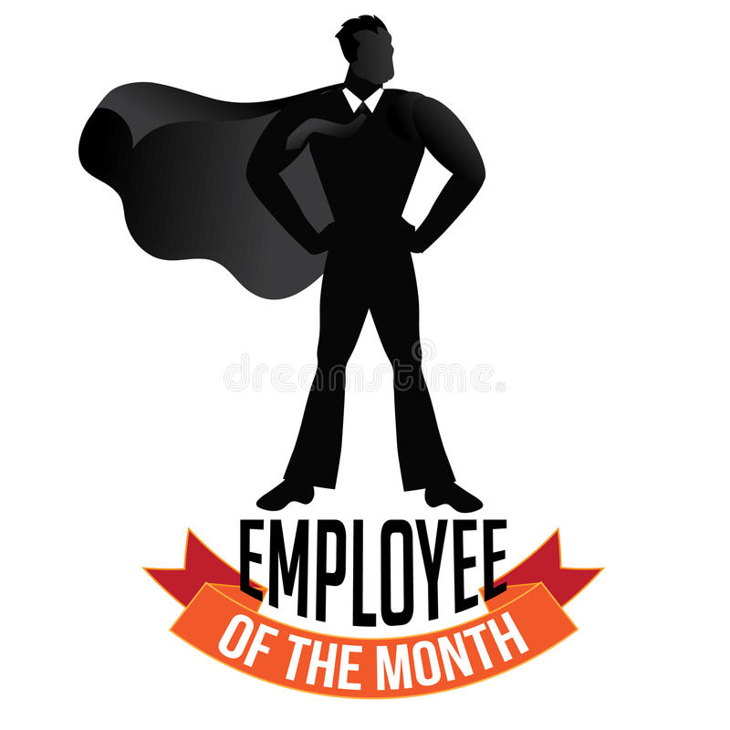 employee of the month male isolated on white stock vector