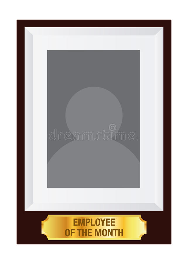 Employee of the month photo frame template stock vector for Employee of the month certificate template with picture