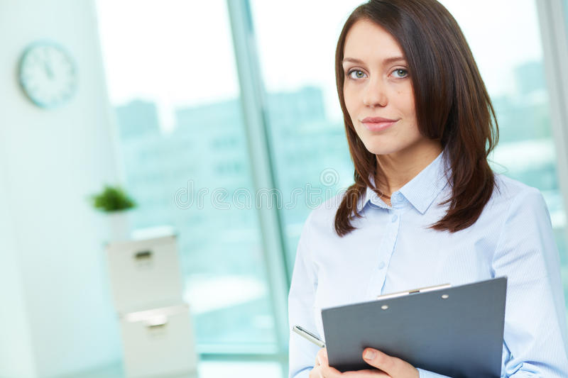 Employee in office royalty free stock image