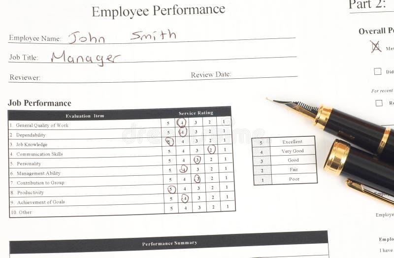 performance form