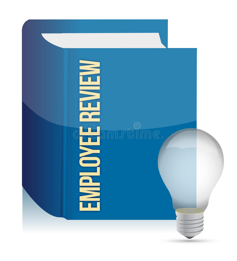 Employee review concept royalty free illustration