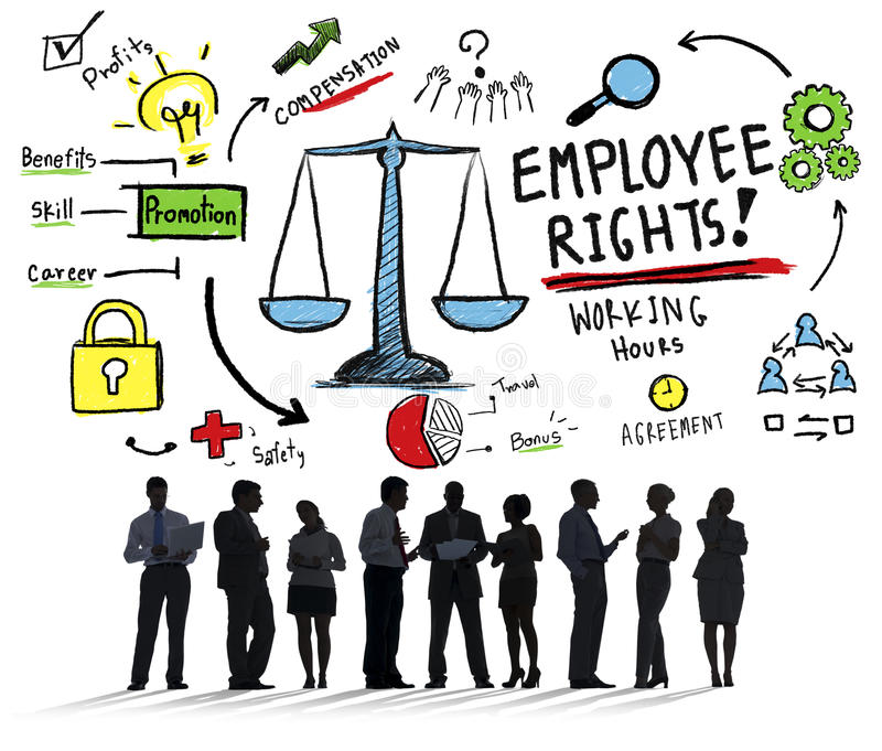 Employee Rights Employment Equality Job Business Concept. Employee Rights Employment Equality Job Business Communication Concept vector illustration