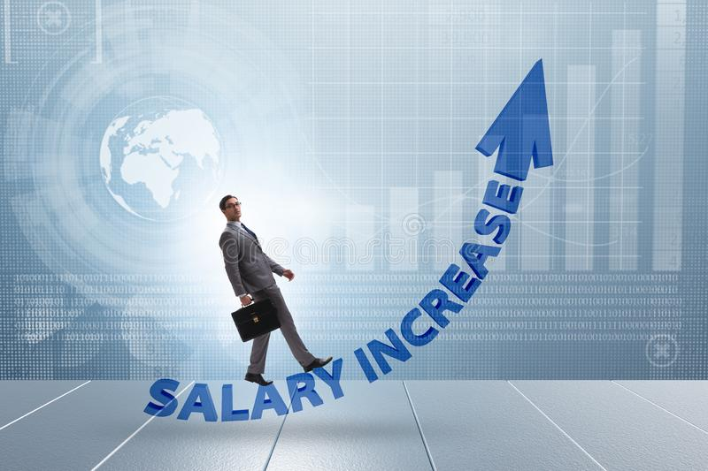 Employee in salary increase concept royalty free stock photo