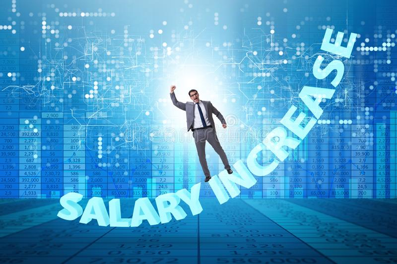 Employee in salary increase concept stock image