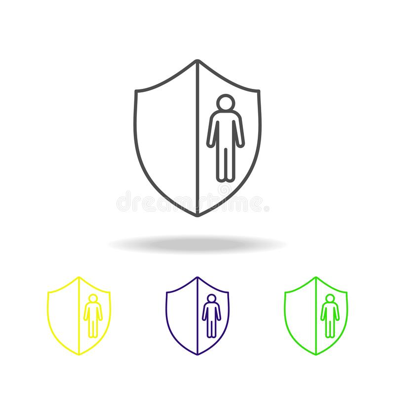 employee salary line color icon. Element of head hunting color icon for mobile concept and web apps. Thin line employee salary col royalty free illustration