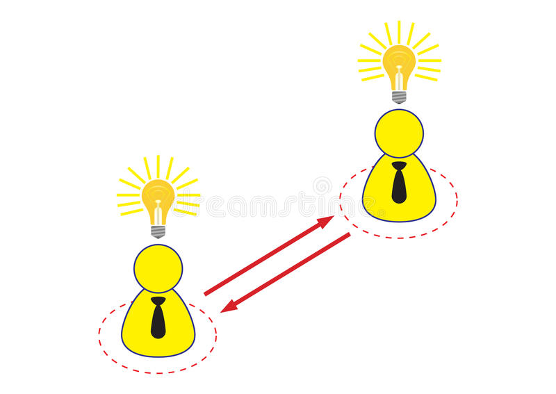 Download Employee Sharing Ideas Illustration Stock Illustration - Image: 17115693