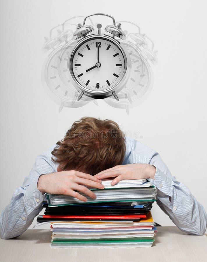 Employee sleeping royalty free stock images