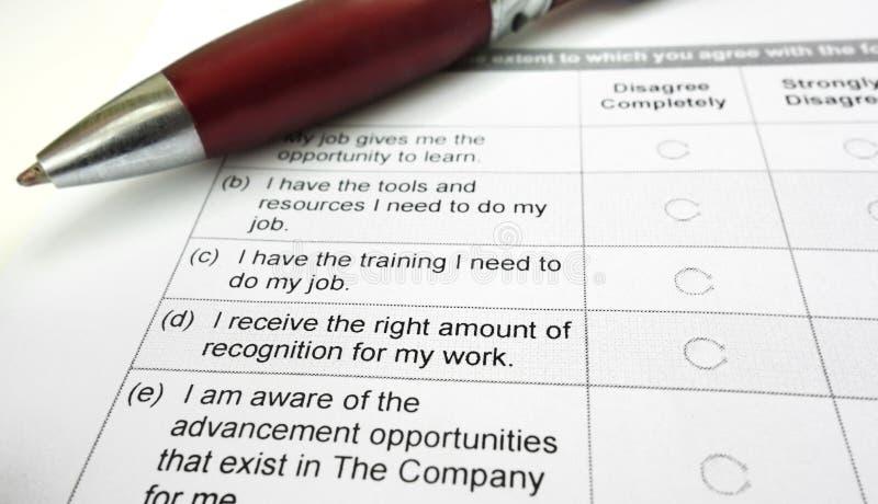 Employee survey royalty free stock photography
