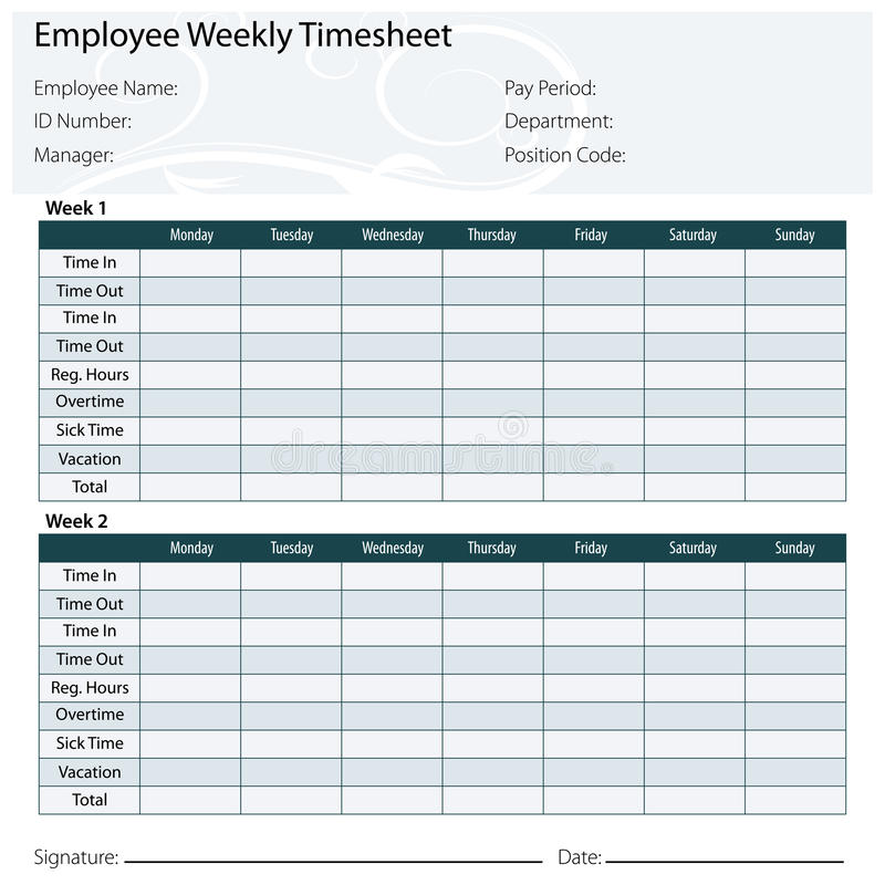 Payroll Timesheet Template. Weekly Timesheet Template For Multiple