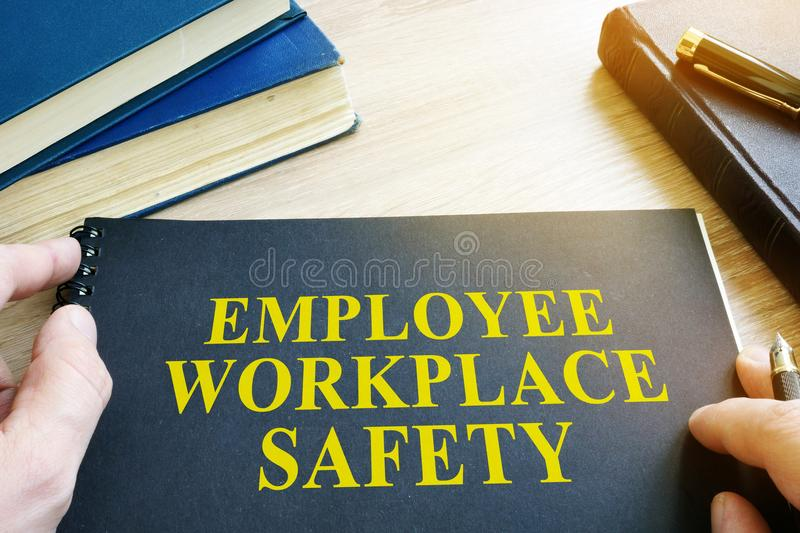 Employee Workplace Safety guide. stock photos