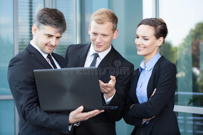 Employees during break stock images