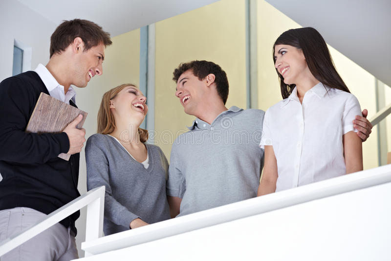 Download Employees Having Fun During Lunch Stock Image - Image: 27003655