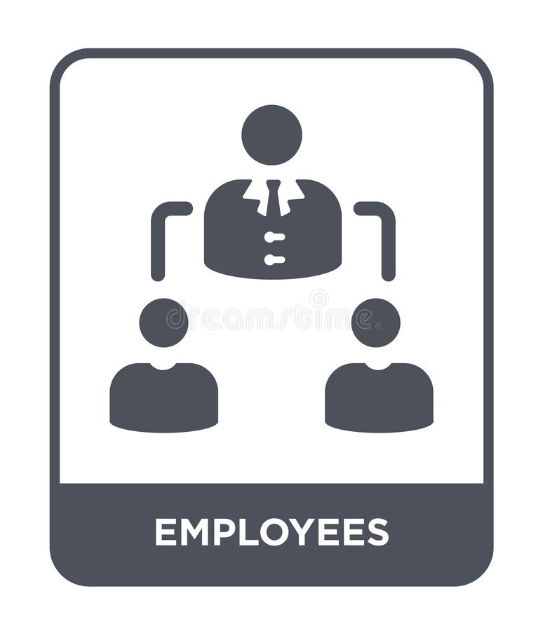 Employees icon in trendy design style. employees icon isolated on white background. employees vector icon simple and modern flat. Symbol for web site, mobile stock illustration