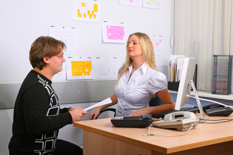 Download Employees of office stock photo. Image of secretary, white - 7594790