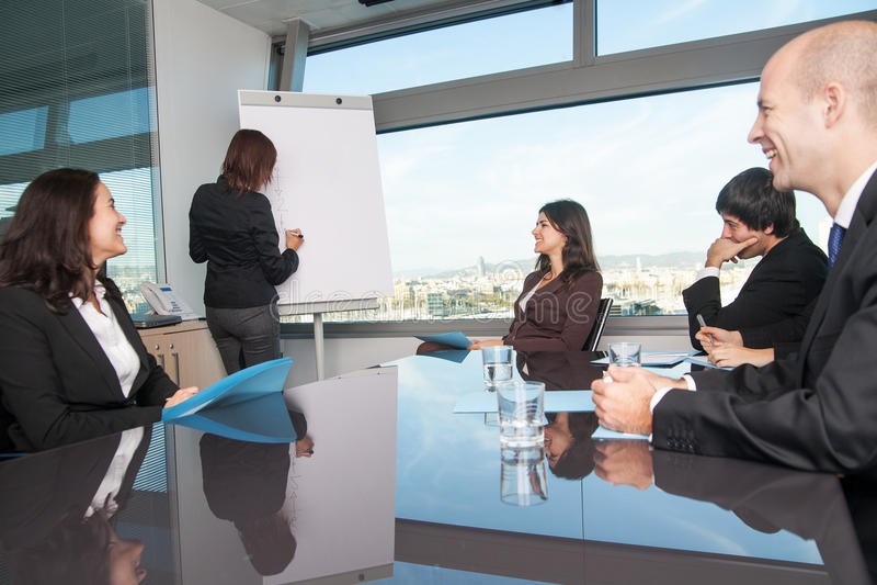 Employees in a seminar royalty free stock photos