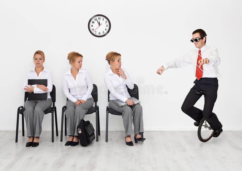 Employees with special skills wanted stock photos