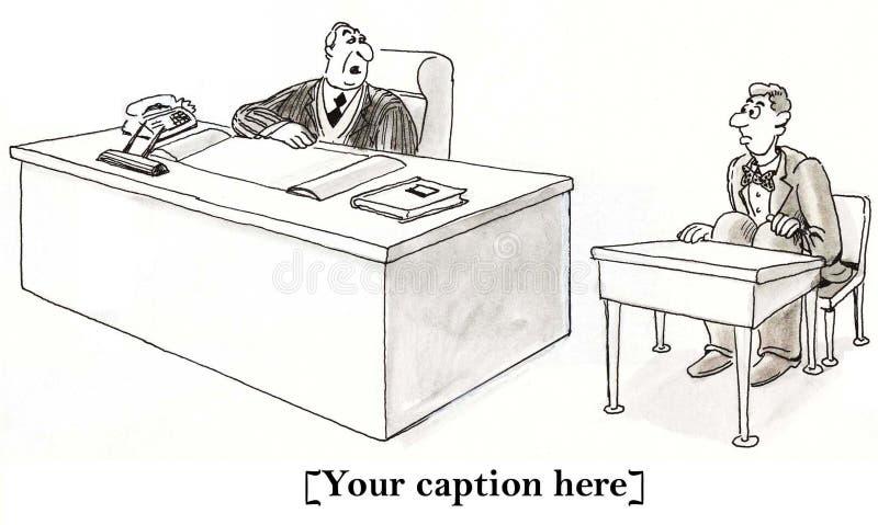 Employees always start on probation royalty free stock photos