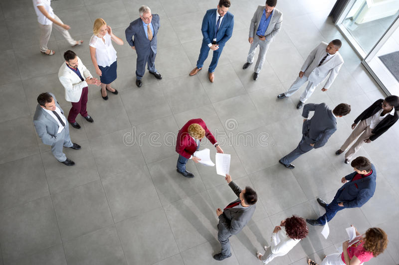 Employer submit report stock images