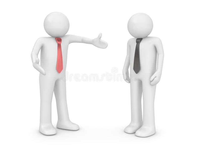Employeur et employé illustration libre de droits