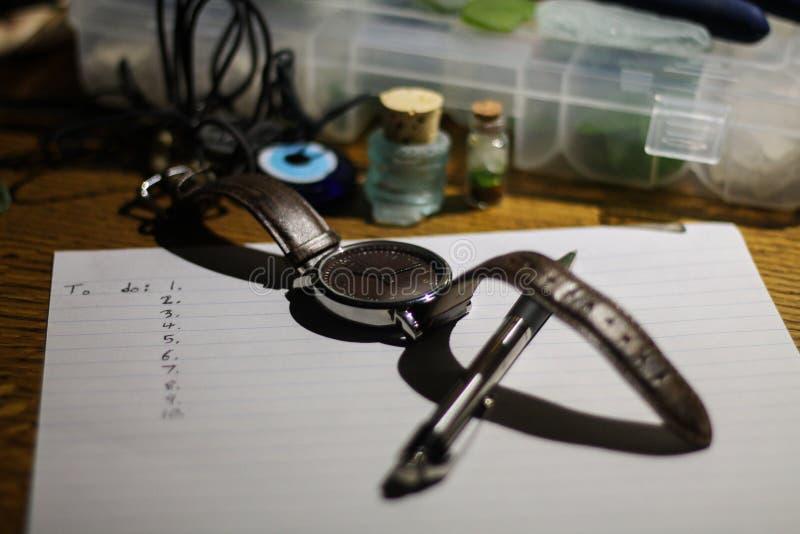 Employez votre temps sagement photographie stock libre de droits