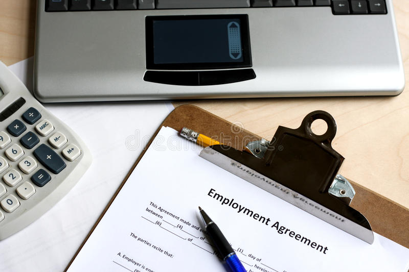 Download Employment agreement stock image. Image of information - 11096481
