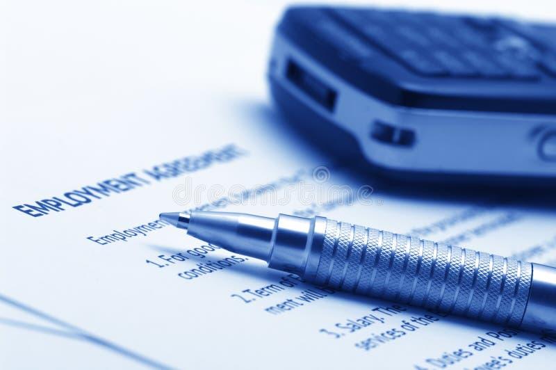 Employment Agreement Royalty Free Stock Photos