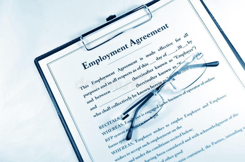 Employment Agreement Stock Photography  Image