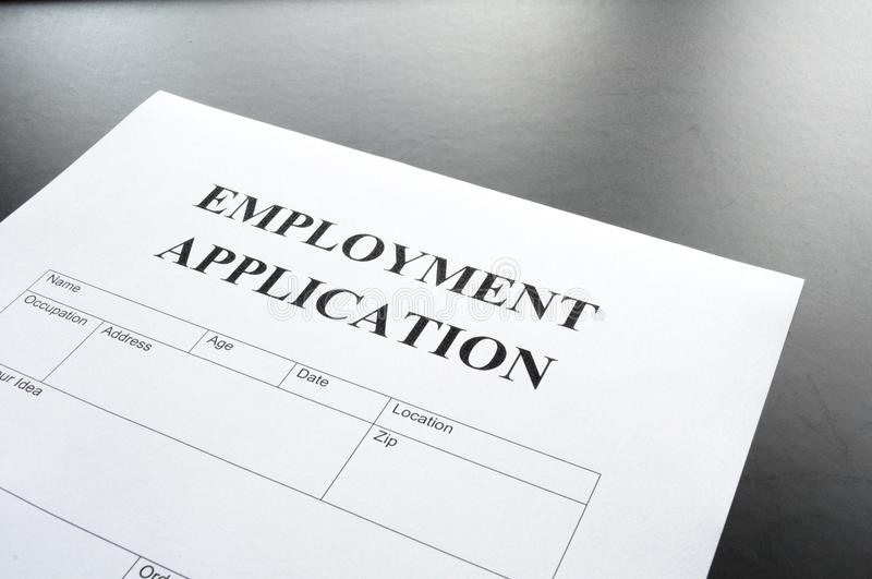 Download Employment application stock photo. Image of application - 14709010