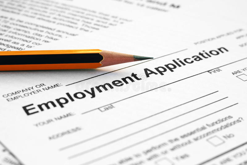 Download Employment  application stock image. Image of service - 17267587